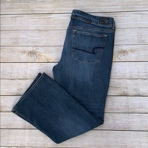 American Eagle Super Stretch Kick Boot jeans 18S